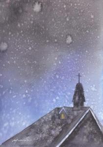 1312雪の中の教会
