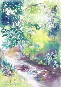 1505木立の中の川