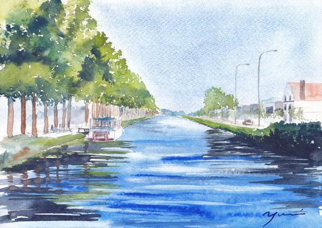 1804ベルギーダム運河